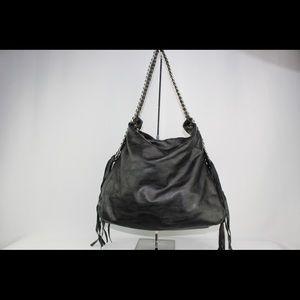 SHOULDER HANDBAG Black Leather  NWT